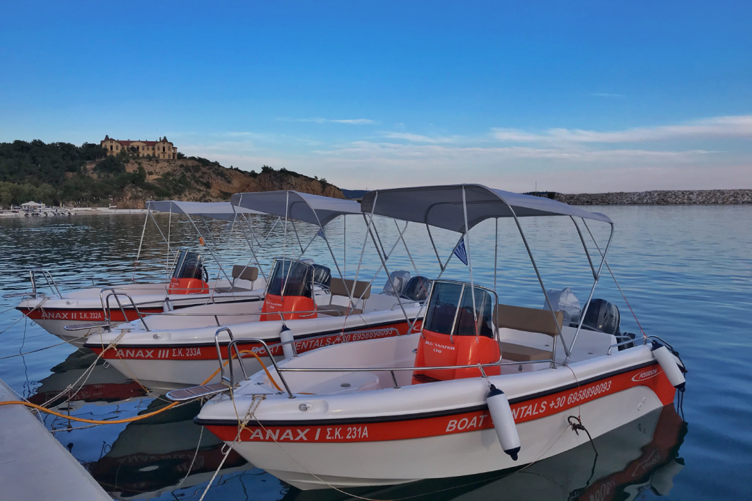 Motorboats Rentals | Rent a Boat | Water Sports Dolphins Thassos