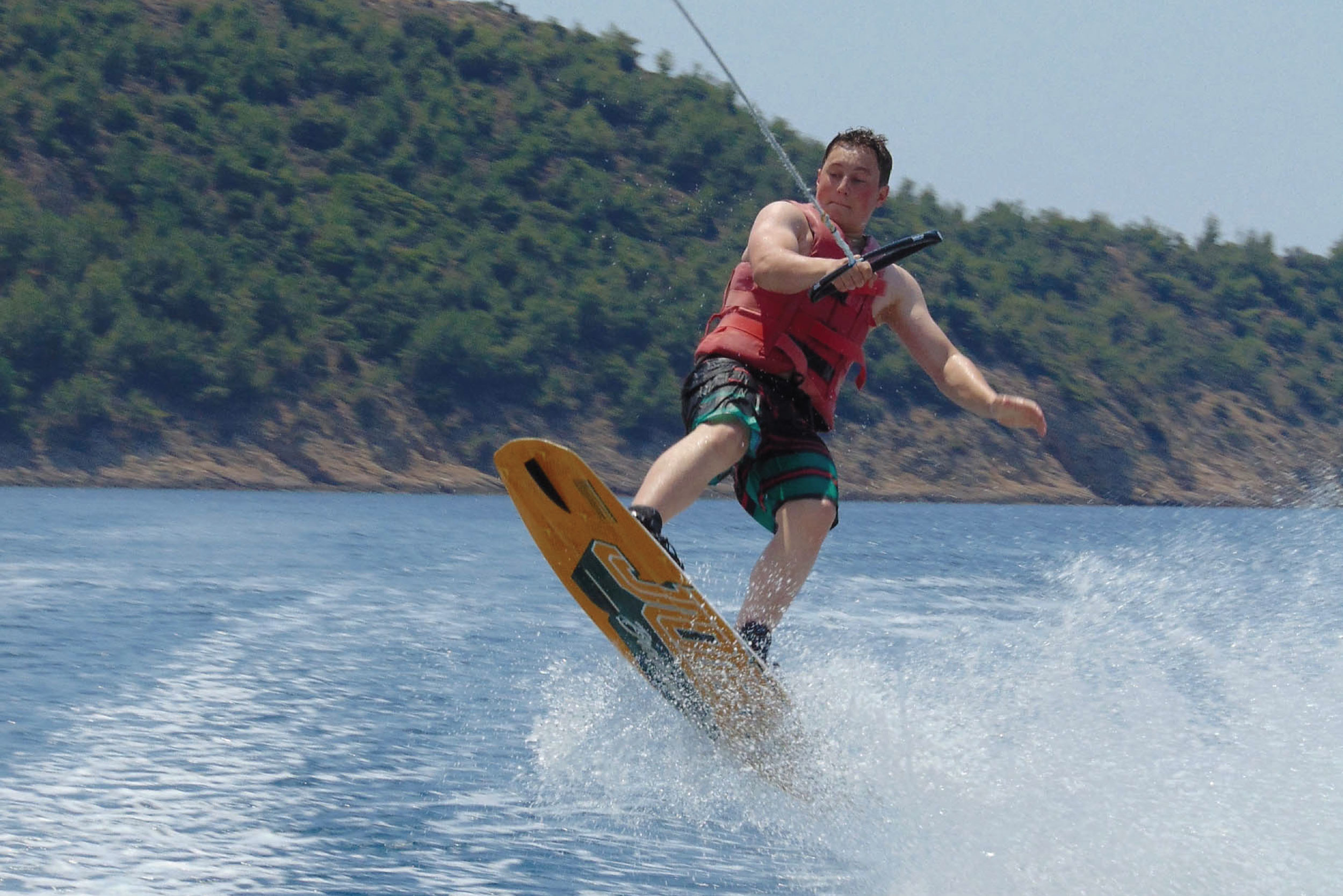 Wakeboard Water Sports Dolphins Thassos Greece